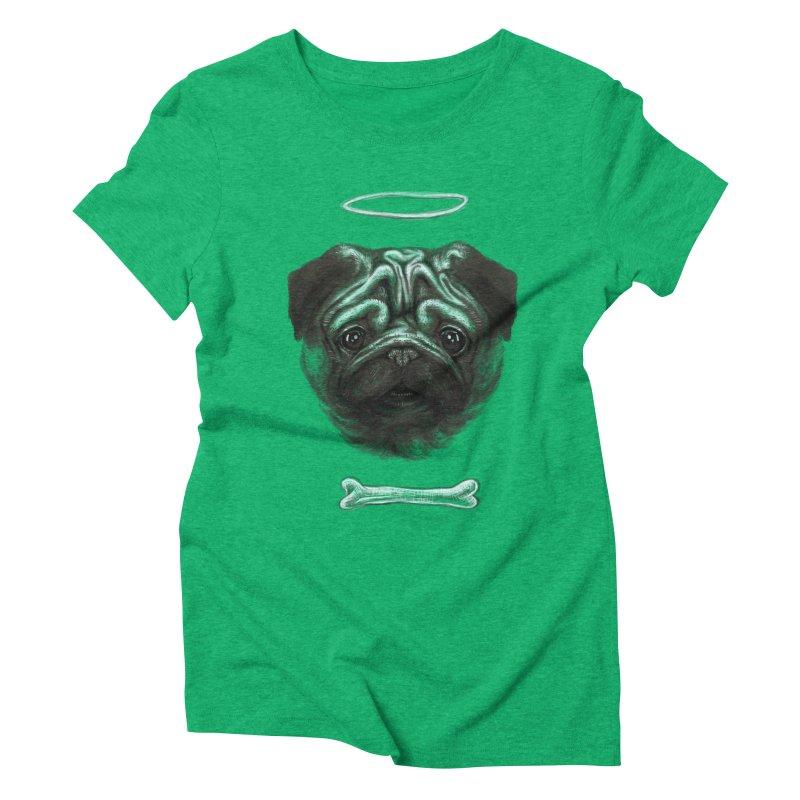 A Pug's Life Women's Triblend T-Shirt by rainvelle01's Artist Shop