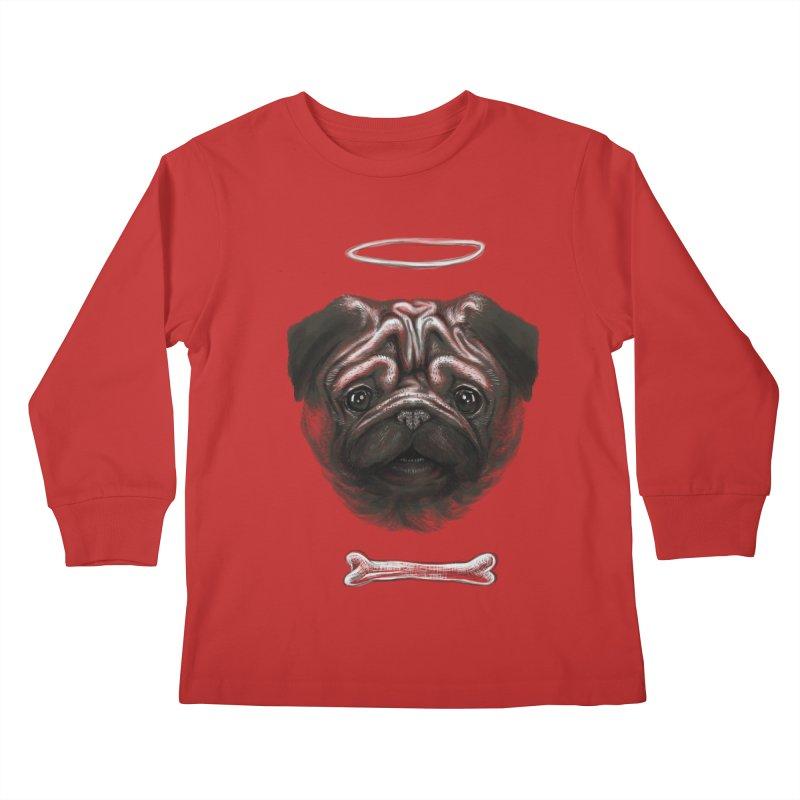 A Pug's Life Kids Longsleeve T-Shirt by rainvelle01's Artist Shop