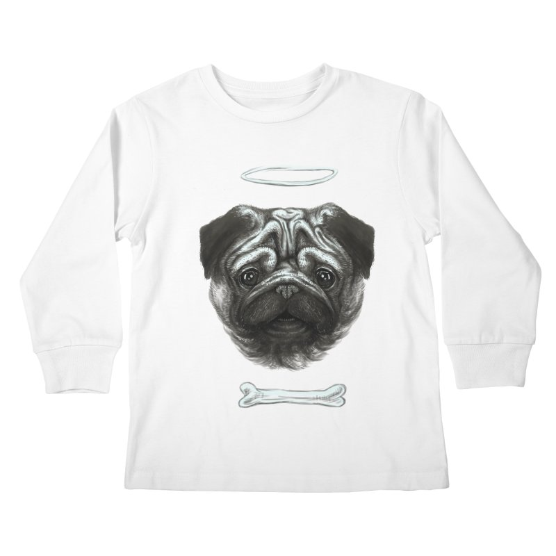 A Pug's Life Kids Longsleeve T-Shirt by rainvelle01's Artist Shop