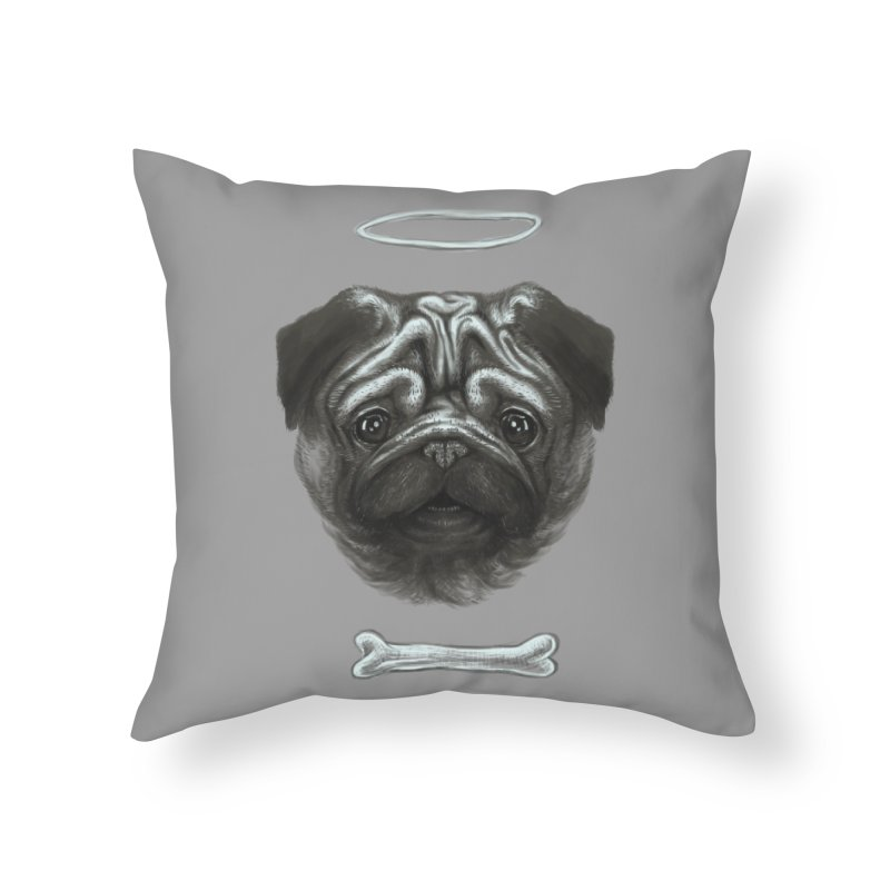 A Pug's Life Home Throw Pillow by rainvelle01's Artist Shop