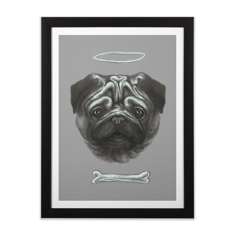 A Pug's Life Home Framed Fine Art Print by rainvelle01's Artist Shop