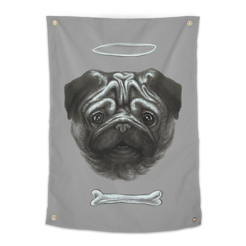 A Pug's Life Home Tapestry by rainvelle01's Artist Shop