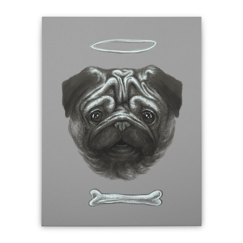 A Pug's Life Home Stretched Canvas by rainvelle01's Artist Shop