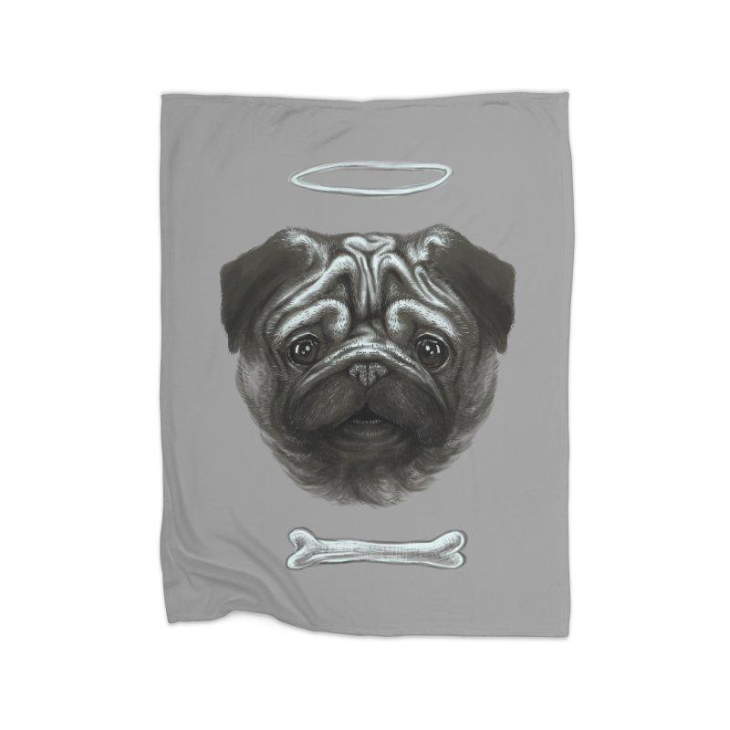 A Pug's Life Home Blanket by rainvelle01's Artist Shop