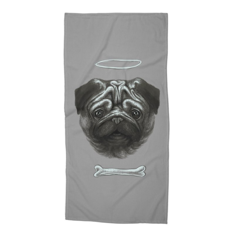 A Pug's Life Accessories Beach Towel by rainvelle01's Artist Shop