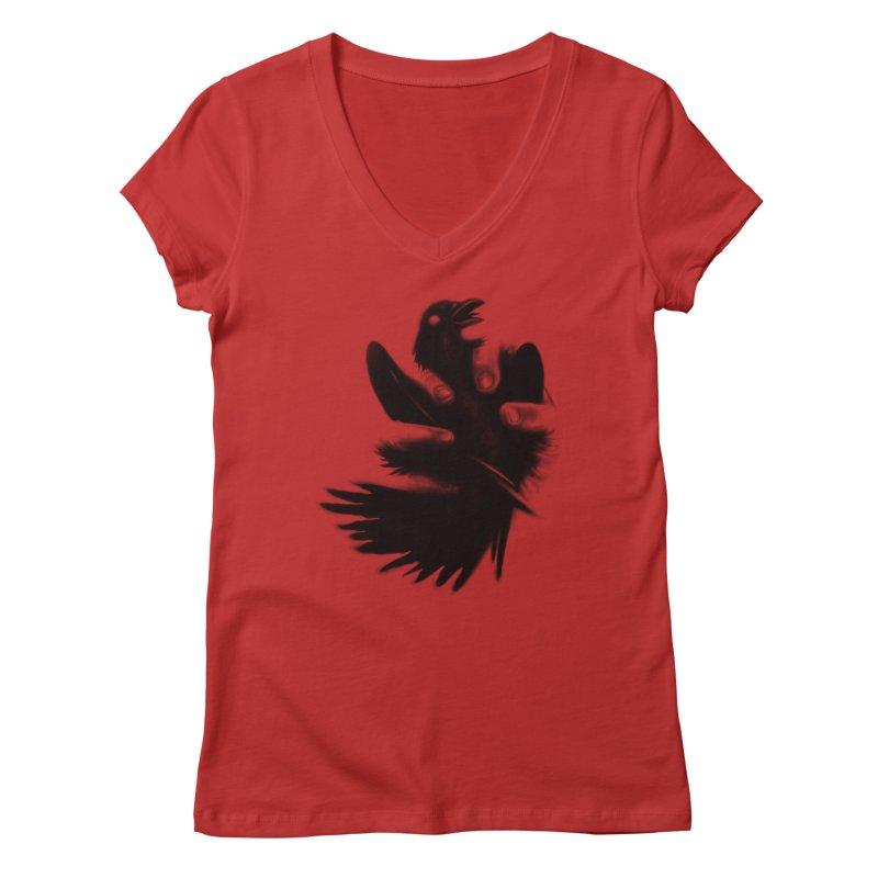 Freedom Grabber Women's V-Neck by rainvelle01's Artist Shop