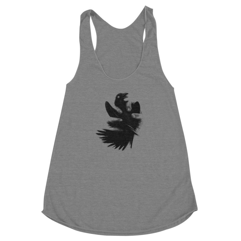 Freedom Grabber Women's Racerback Triblend Tank by rainvelle01's Artist Shop