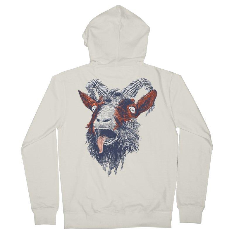 Rock Goat Men's Zip-Up Hoody by rainvelle01's Artist Shop