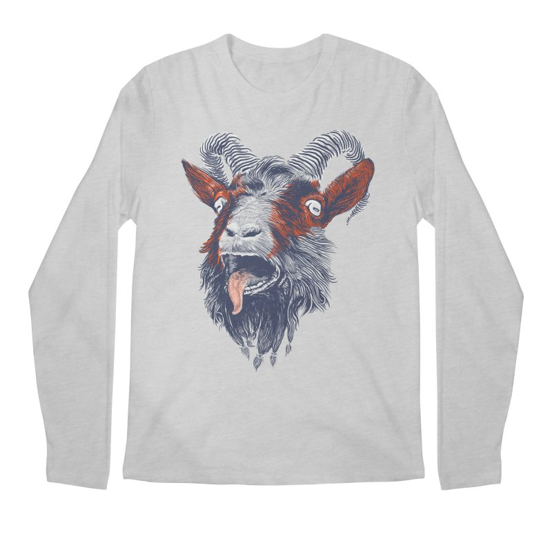 Rock Goat Men's Longsleeve T-Shirt by rainvelle01's Artist Shop