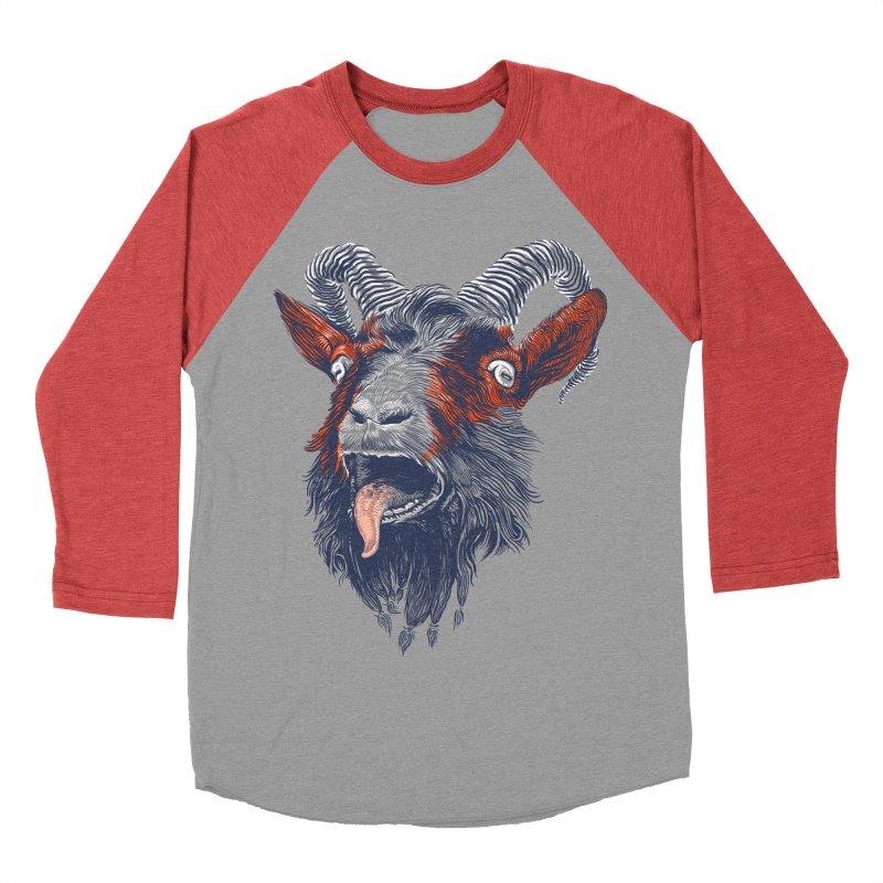 Rock Goat Women's Baseball Triblend T-Shirt by rainvelle01's Artist Shop