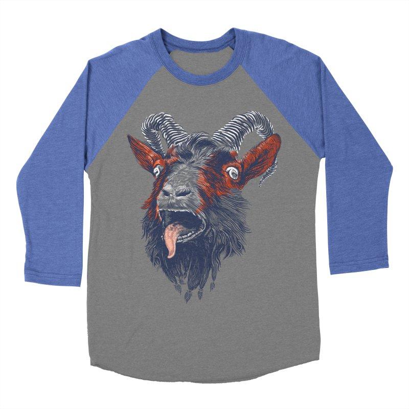 Rock Goat Men's Baseball Triblend T-Shirt by rainvelle01's Artist Shop