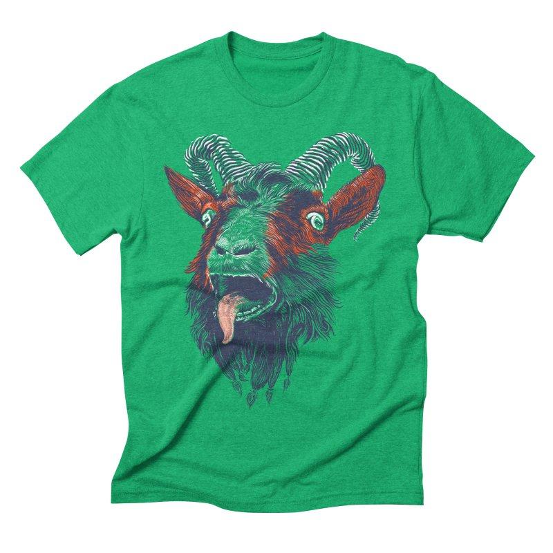 Rock Goat Men's Triblend T-shirt by rainvelle01's Artist Shop