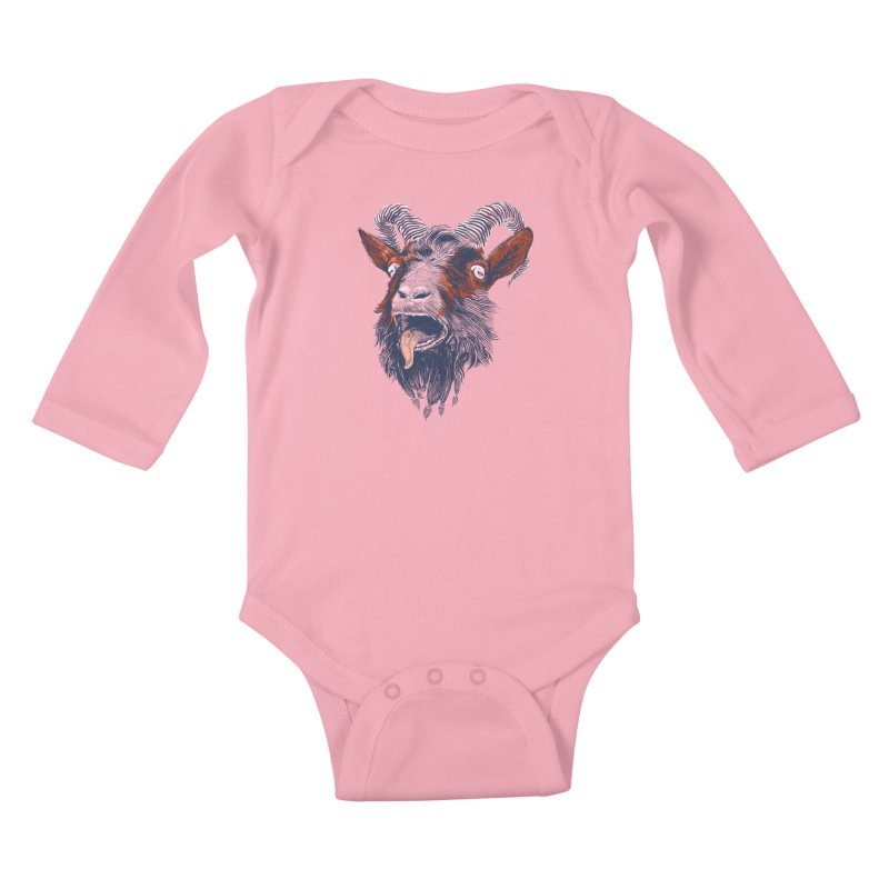 Rock Goat Kids Baby Longsleeve Bodysuit by rainvelle01's Artist Shop