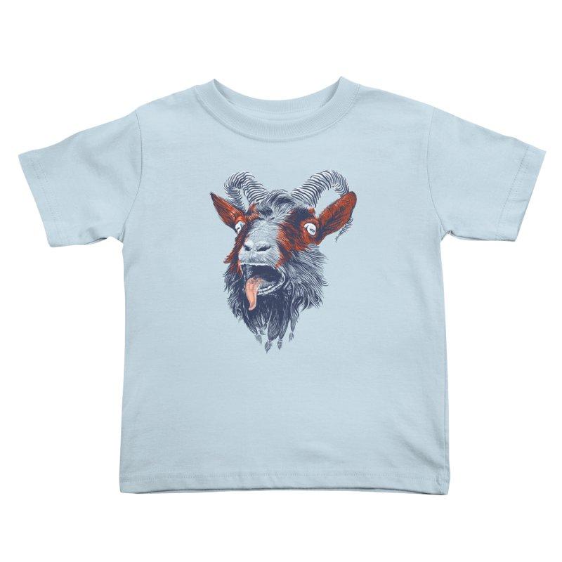 Rock Goat Kids Toddler T-Shirt by rainvelle01's Artist Shop