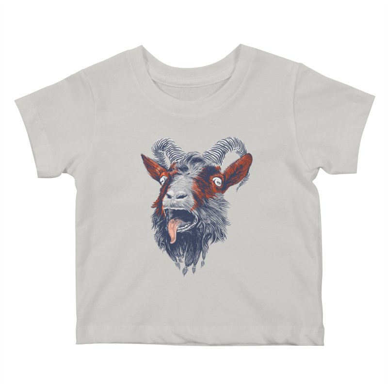 Rock Goat Kids Baby T-Shirt by rainvelle01's Artist Shop