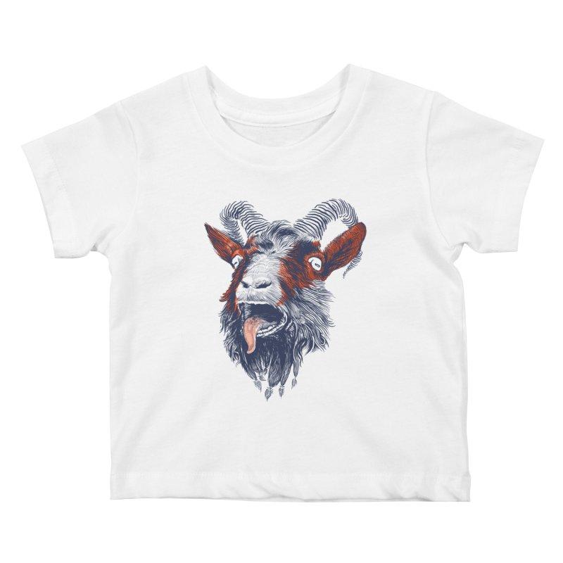 Rock Goat Kids Baby T-Shirt by rainvelle01's Artist Shop