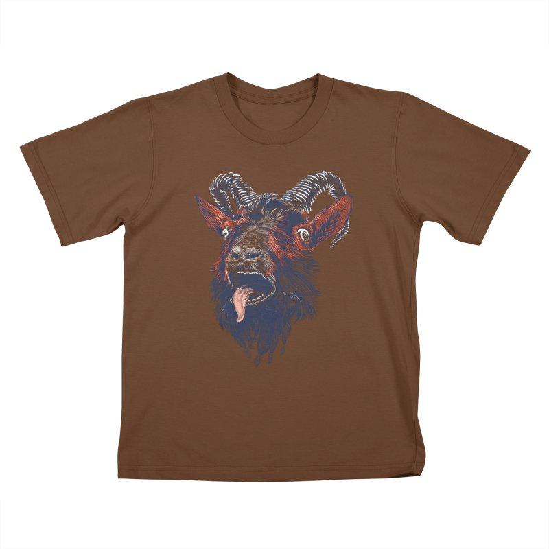 Rock Goat Kids T-Shirt by rainvelle01's Artist Shop