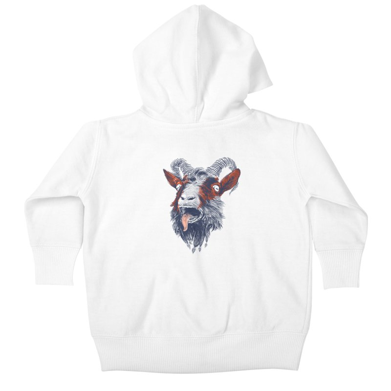 Rock Goat Kids Baby Zip-Up Hoody by rainvelle01's Artist Shop