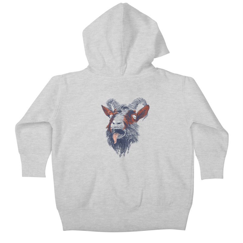 Rock Goat Kids Baby Zip-Up Hoody by rainvelle01's Artist Shop