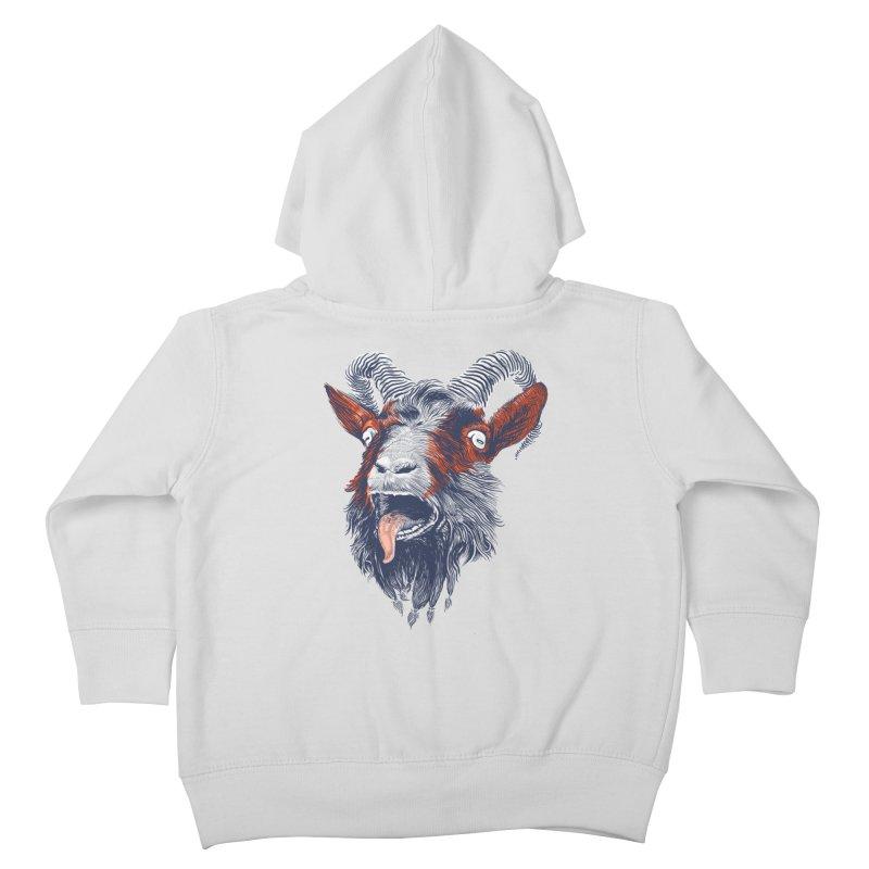 Rock Goat Kids Toddler Zip-Up Hoody by rainvelle01's Artist Shop