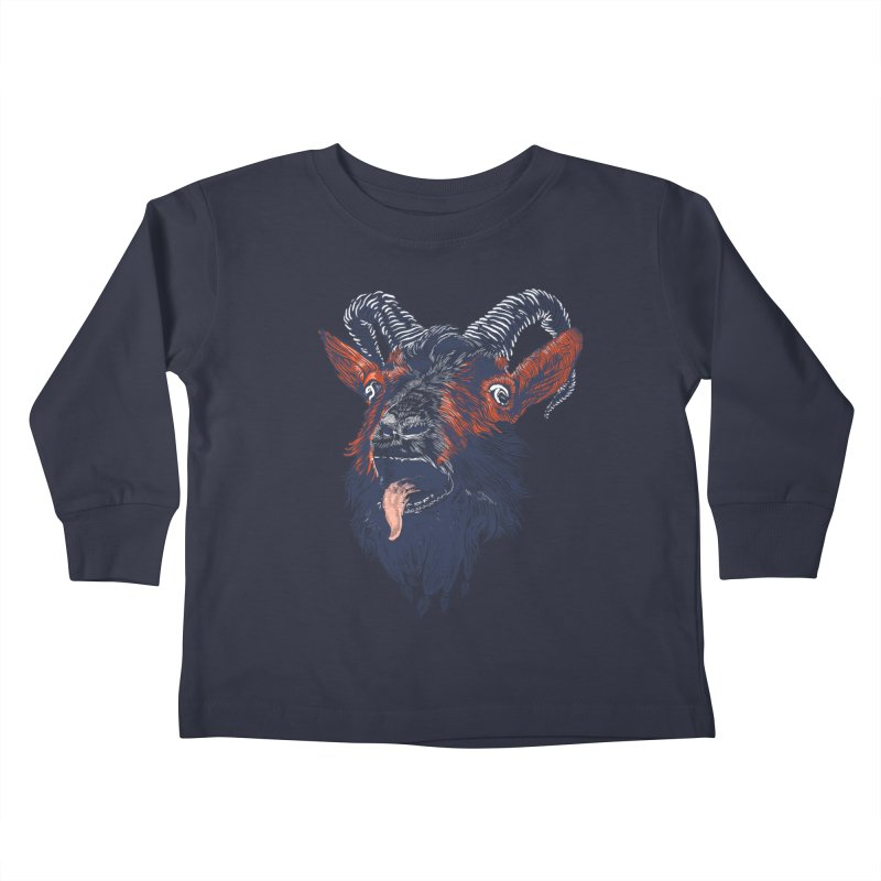 Rock Goat Kids Toddler Longsleeve T-Shirt by rainvelle01's Artist Shop