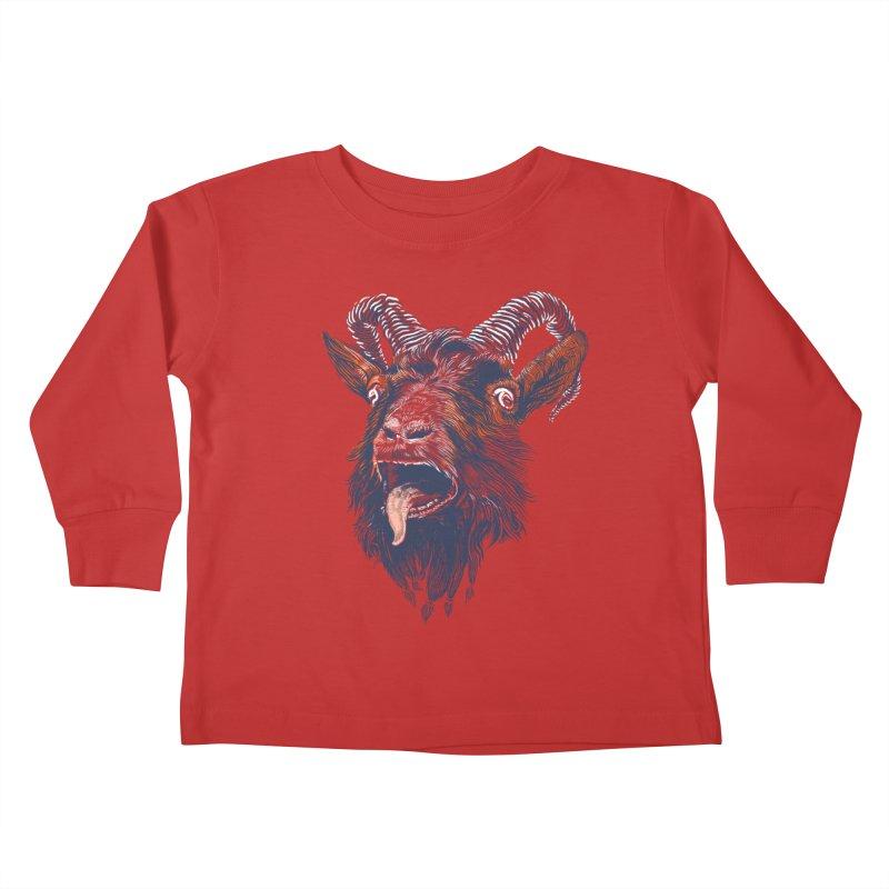 Rock Goat Kids Toddler Longsleeve T-Shirt by rainvelle01's Artist Shop