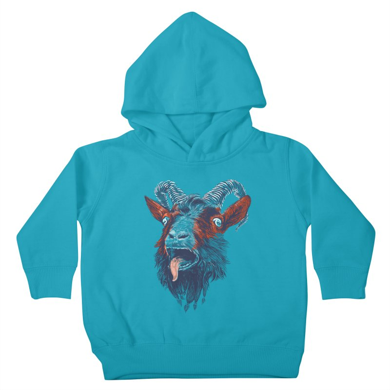Rock Goat Kids Toddler Pullover Hoody by rainvelle01's Artist Shop