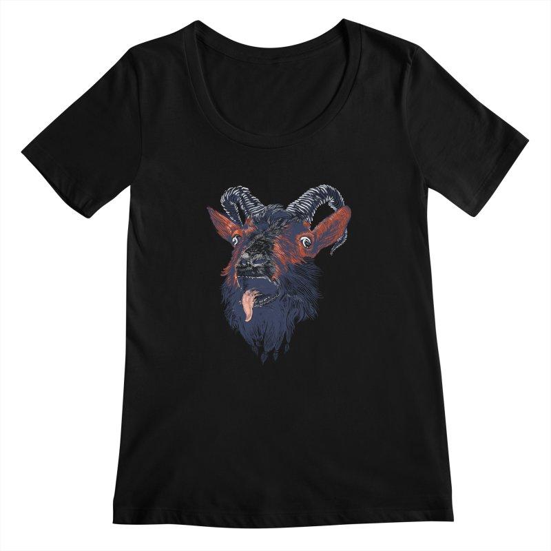 Rock Goat Women's Scoopneck by rainvelle01's Artist Shop