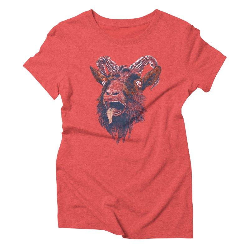 Rock Goat Women's Triblend T-shirt by rainvelle01's Artist Shop
