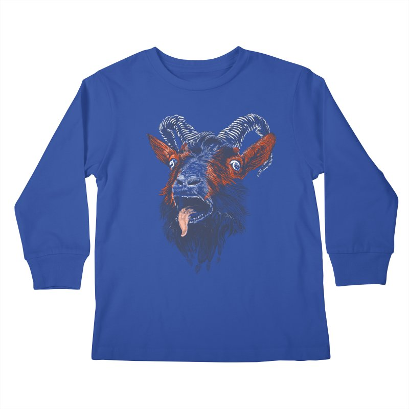 Rock Goat Kids Longsleeve T-Shirt by rainvelle01's Artist Shop