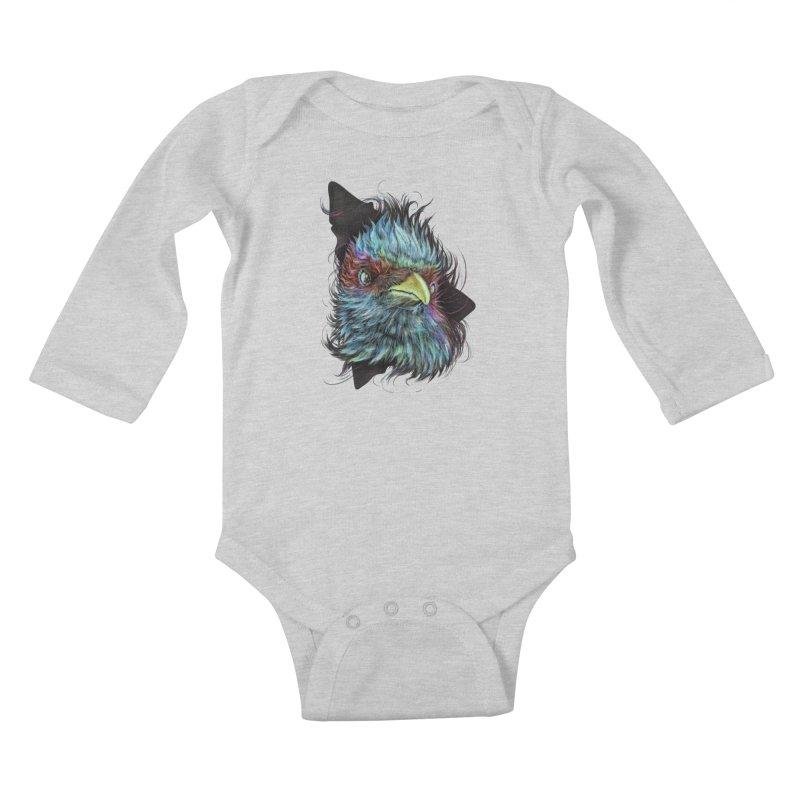 Bird of Prey Kids Baby Longsleeve Bodysuit by rainvelle01's Artist Shop