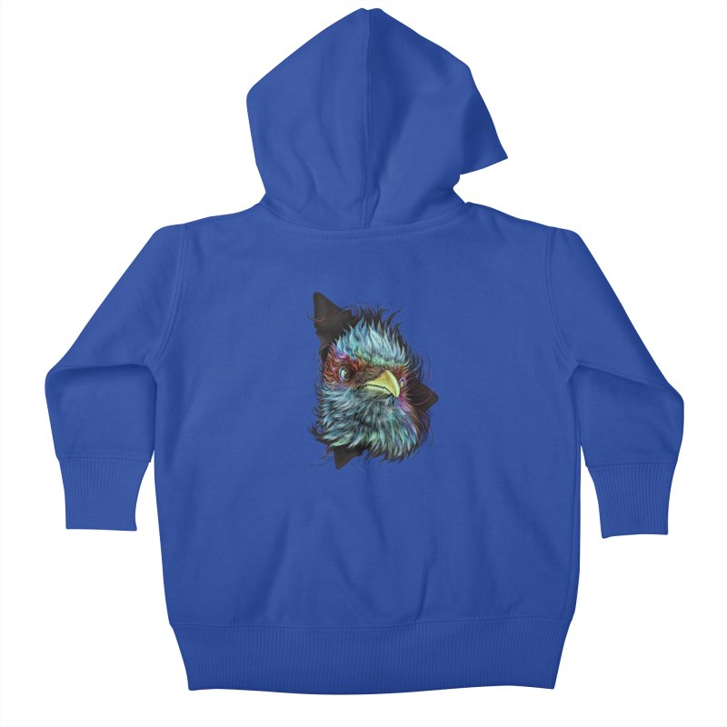 Bird of Prey Kids Baby Zip-Up Hoody by rainvelle01's Artist Shop