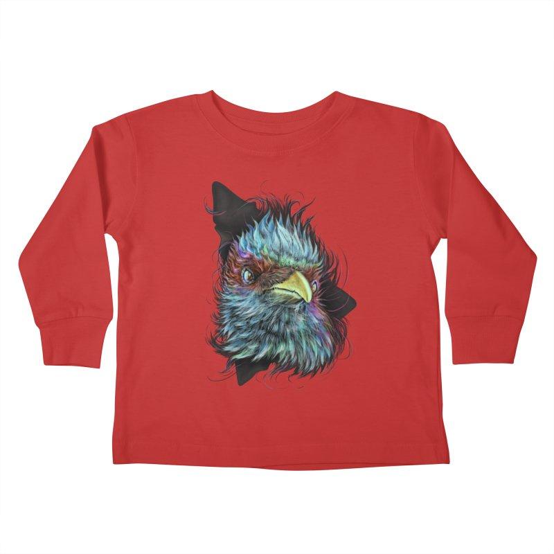 Bird of Prey Kids Toddler Longsleeve T-Shirt by rainvelle01's Artist Shop
