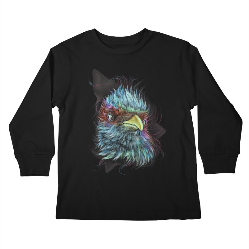 Bird of Prey Kids Longsleeve T-Shirt by rainvelle01's Artist Shop