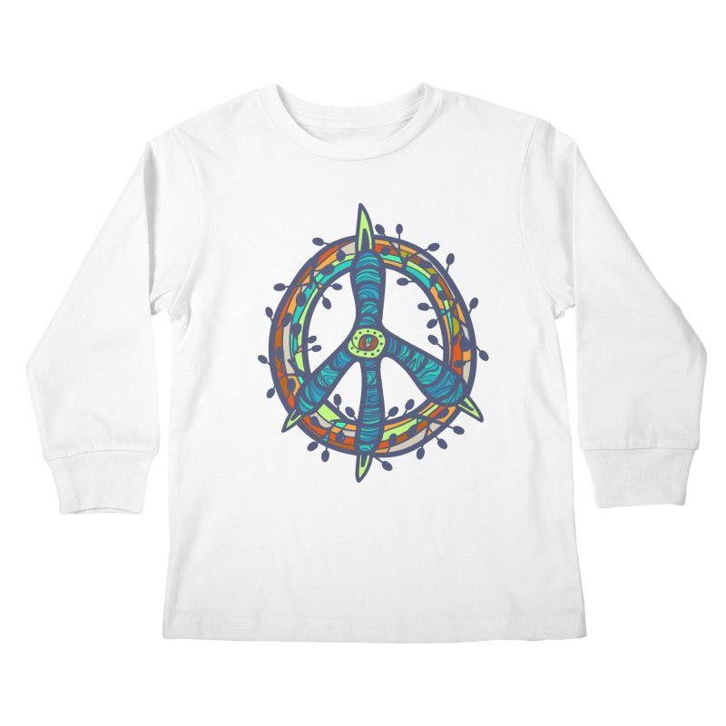 A Peace of Chicken Foot Kids Longsleeve T-Shirt by rainvelle01's Artist Shop