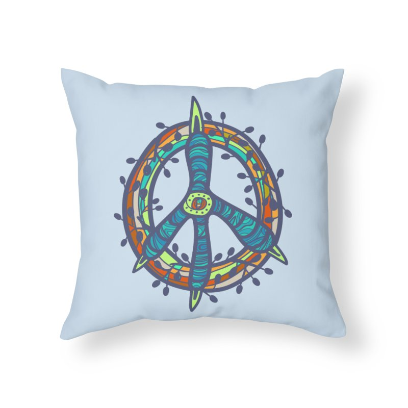 A Peace of Chicken Foot Home Throw Pillow by rainvelle01's Artist Shop
