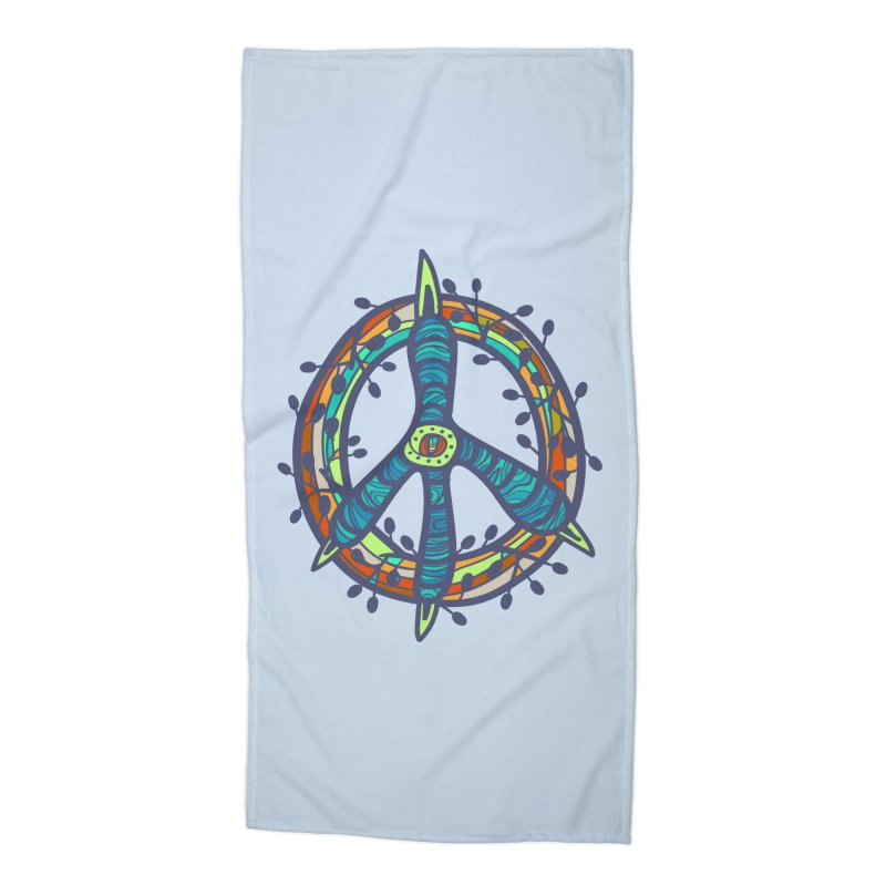 A Peace of Chicken Foot Accessories Beach Towel by rainvelle01's Artist Shop