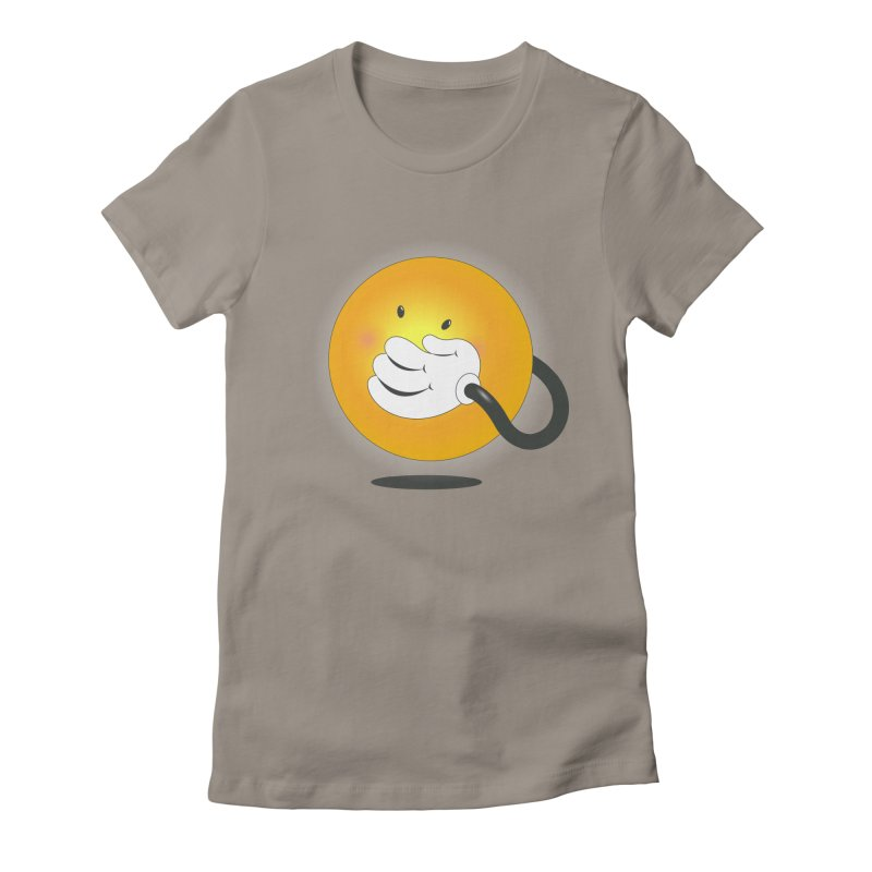 You Can't Hide Your Smile! Women's Fitted T-Shirt by rainvelle01's Artist Shop