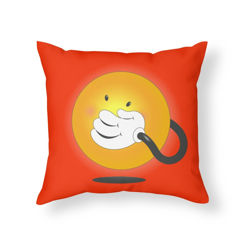 You Can't Hide Your Smile! Home Throw Pillow by rainvelle01's Artist Shop
