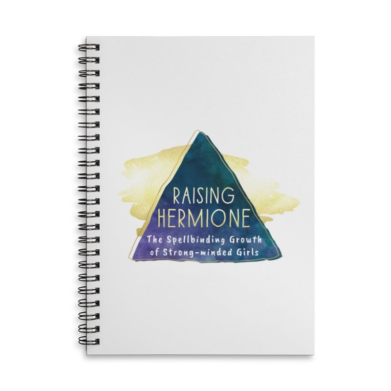 Raising Hermione Full Logo Accessories Lined Spiral Notebook by Raising Hermione