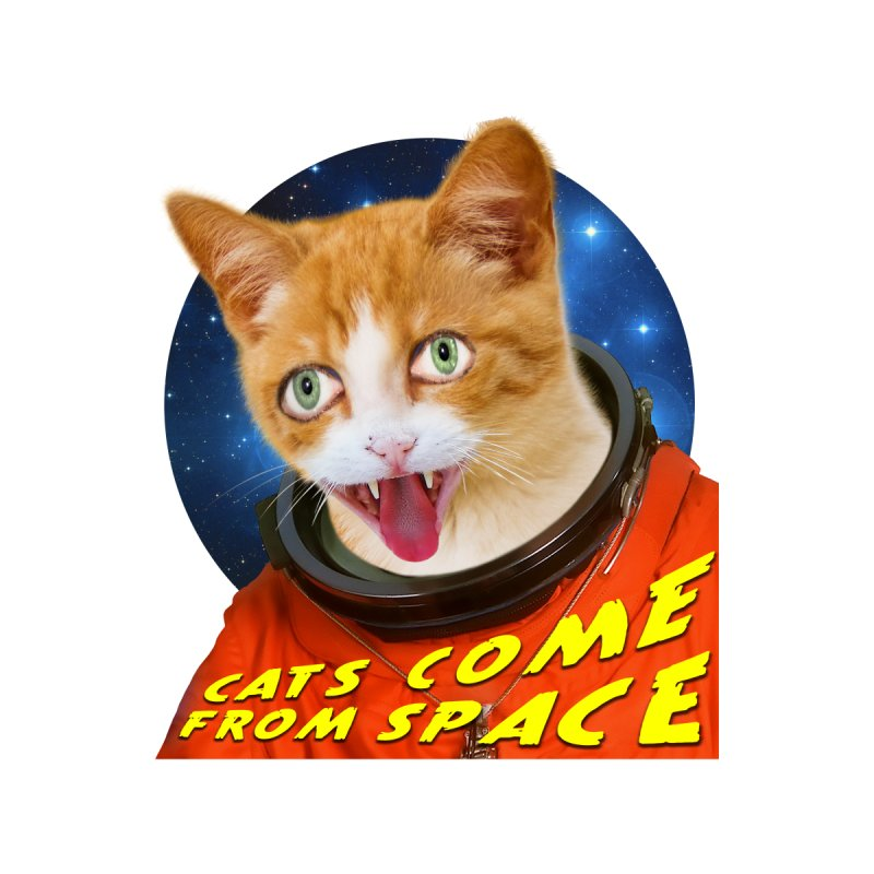 Cats Come From Space Men's T-Shirt by Rake Clag