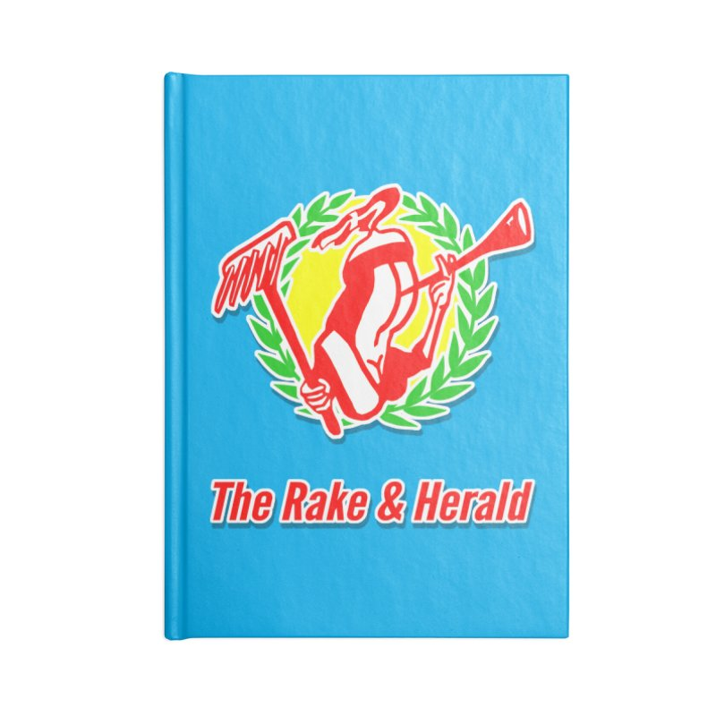 The R&H Logo, the Lady of the Rake Accessories Blank Journal Notebook by The Rake & Herald Online Clag Emporium