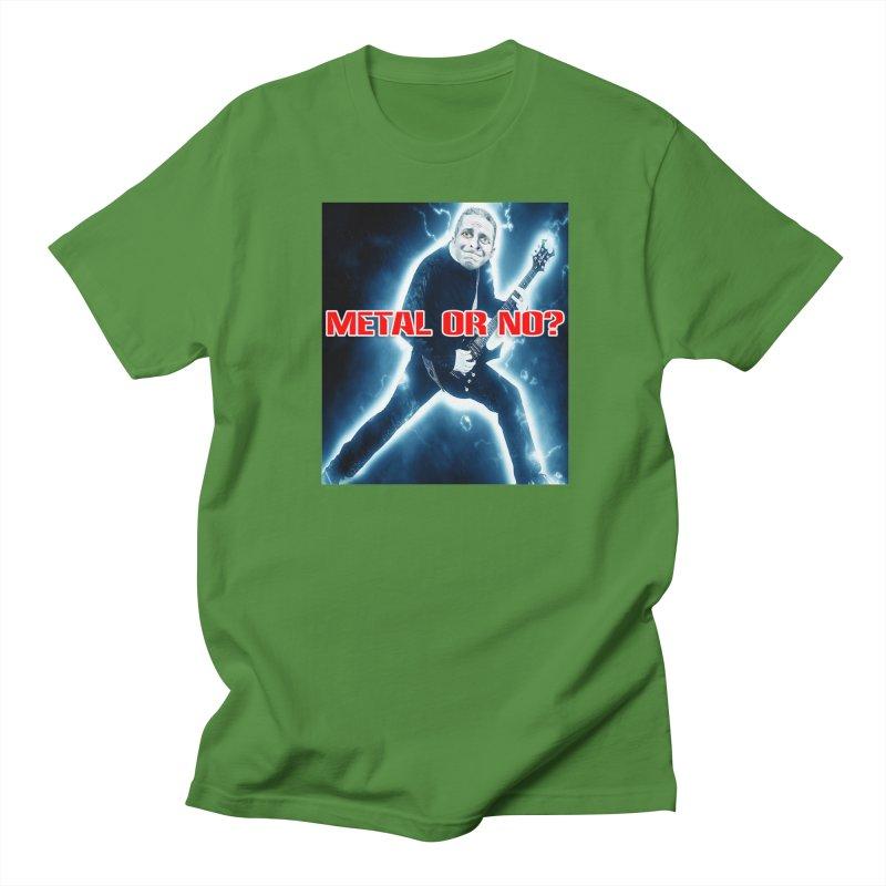 Metal or No? Men's T-Shirt by The Rake & Herald Online Clag Emporium
