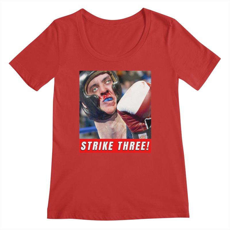 Strike Three! Women's Regular Scoop Neck by The Rake & Herald Online Clag Emporium