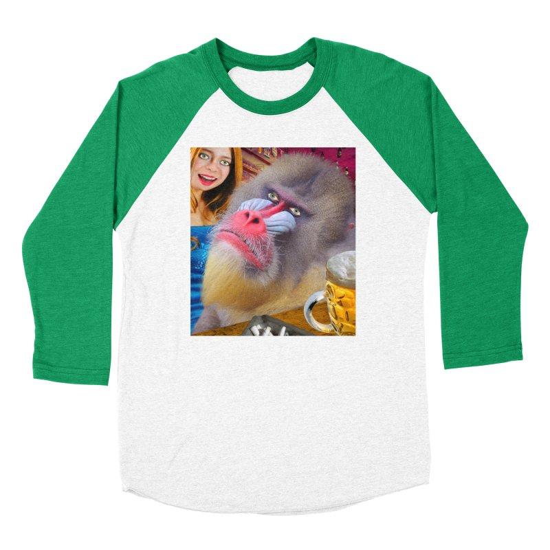 The Bar Mandrill Women's Baseball Triblend Longsleeve T-Shirt by The Rake & Herald Online Clag Emporium