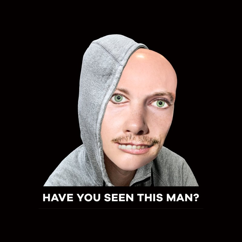 Have You Seen This Man? Men's T-Shirt by The Rake & Herald Online Clag Emporium