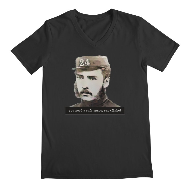 You Need a Safe Space, Snowflake? Men's V-Neck by The Rake & Herald Online Clag Emporium