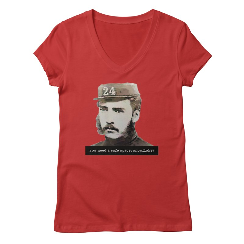 You Need a Safe Space, Snowflake? Women's V-Neck by The Rake & Herald Online Clag Emporium