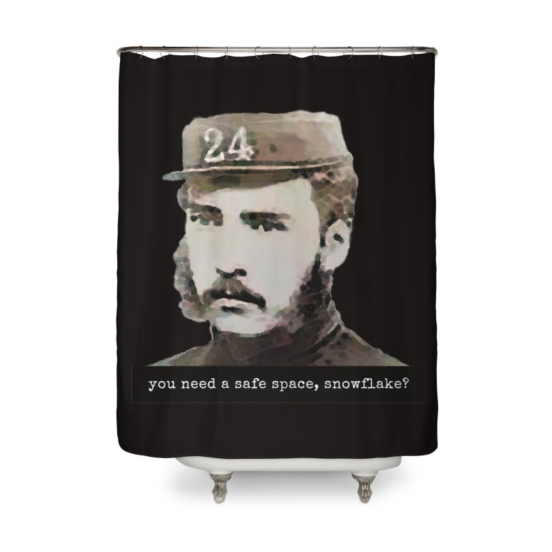 You Need a Safe Space, Snowflake? Home Shower Curtain by The Rake & Herald Online Clag Emporium