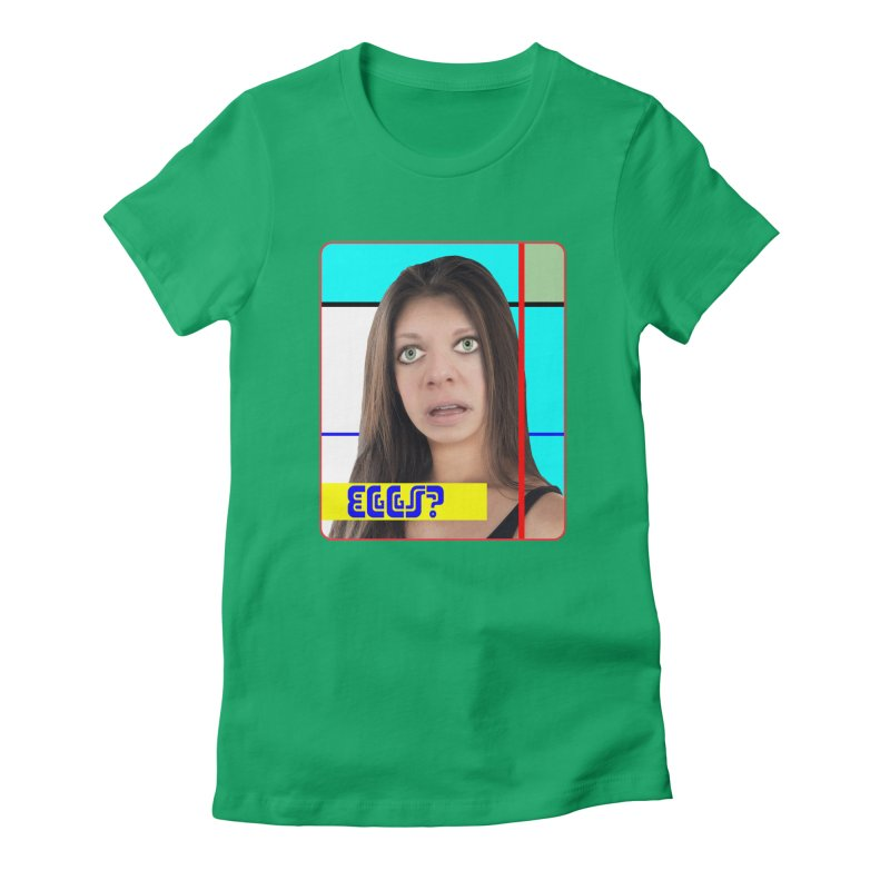 Eggs? Women's Fitted T-Shirt by The Rake & Herald Online Clag Emporium